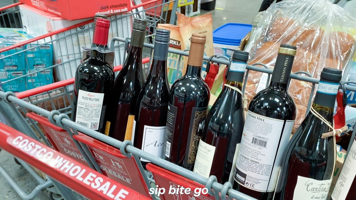 Month supply of costco wine