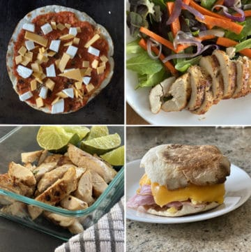 What To Buy And Freeze For A Month From Costco Collage of Food