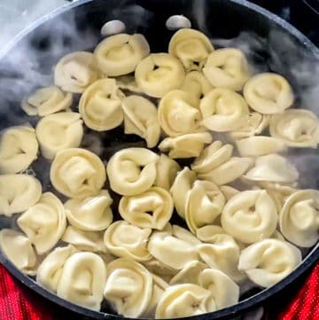 cooking tortellini from Trader Joe's