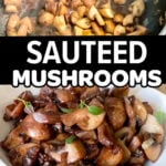 Sautéed Mushrooms With Thyme and Red Wine