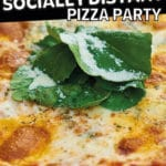 Tips for hosting a socially distant pizza party pinterest pin