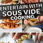 entertain with sous vide cooking pinterest pin