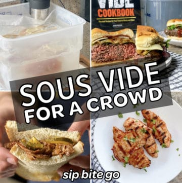 sous vide recipes for entertaining a crowd including burgers and chicken