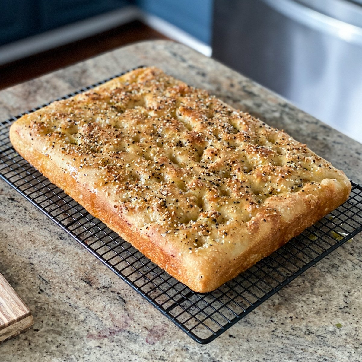 Focaccia Bread With Everything Bagel Seasoning From Trader Joe S Sip Bite Go
