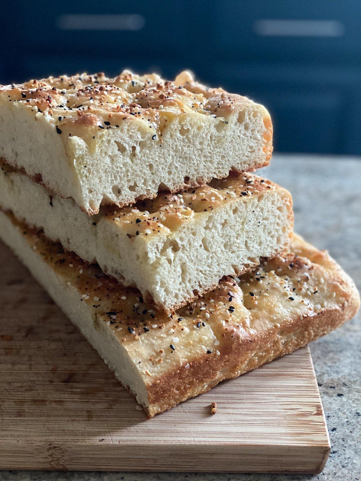 Seeded Focaccia Bread For Sandwiches