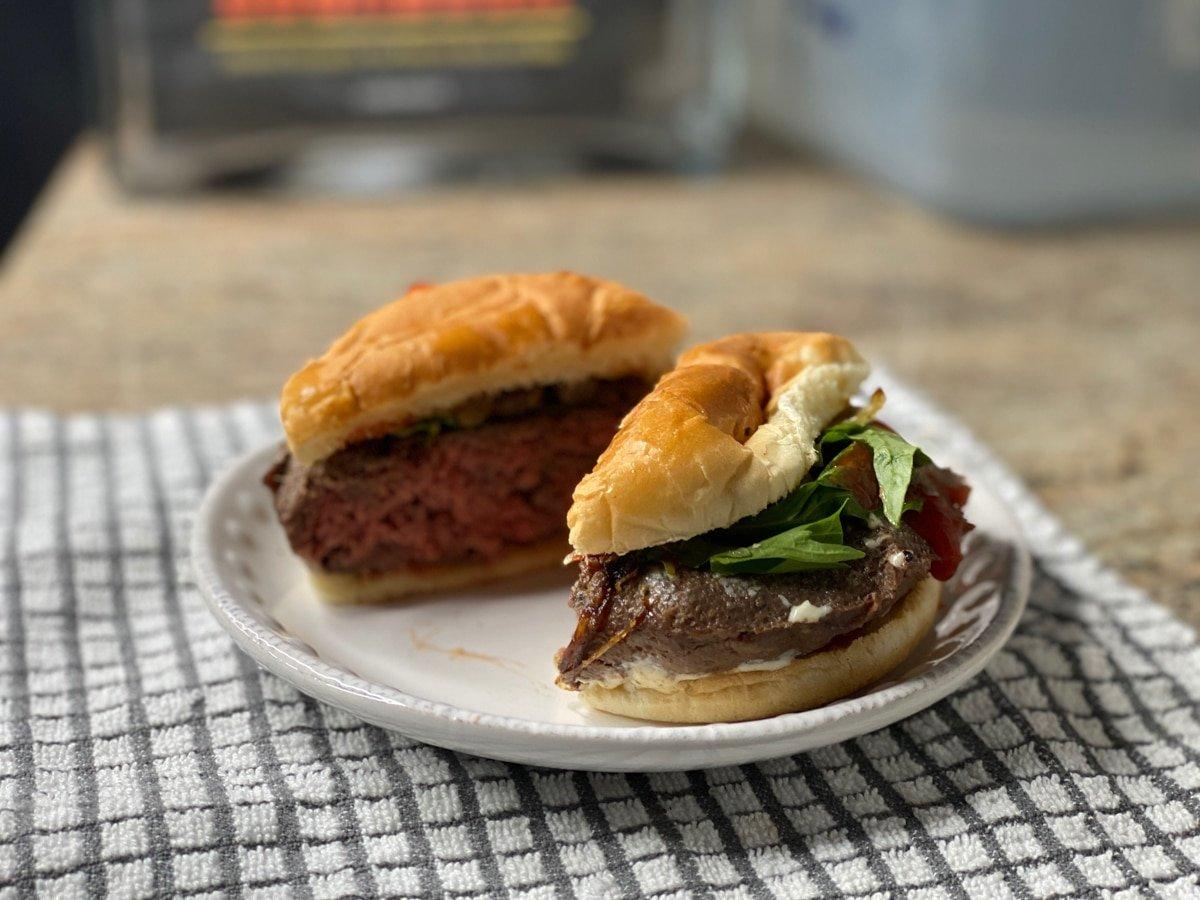 juicy beef patty burger
