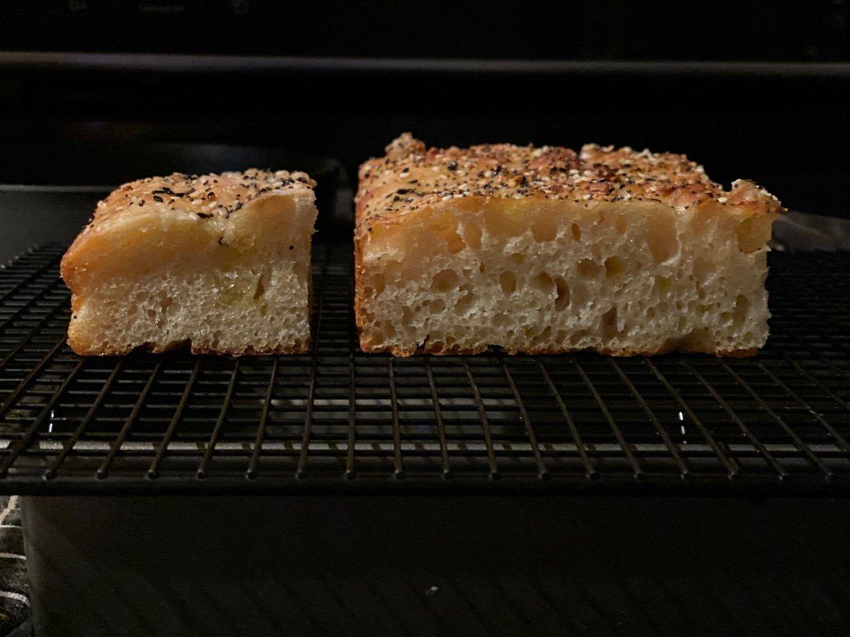 focaccia dough fermentation experiment