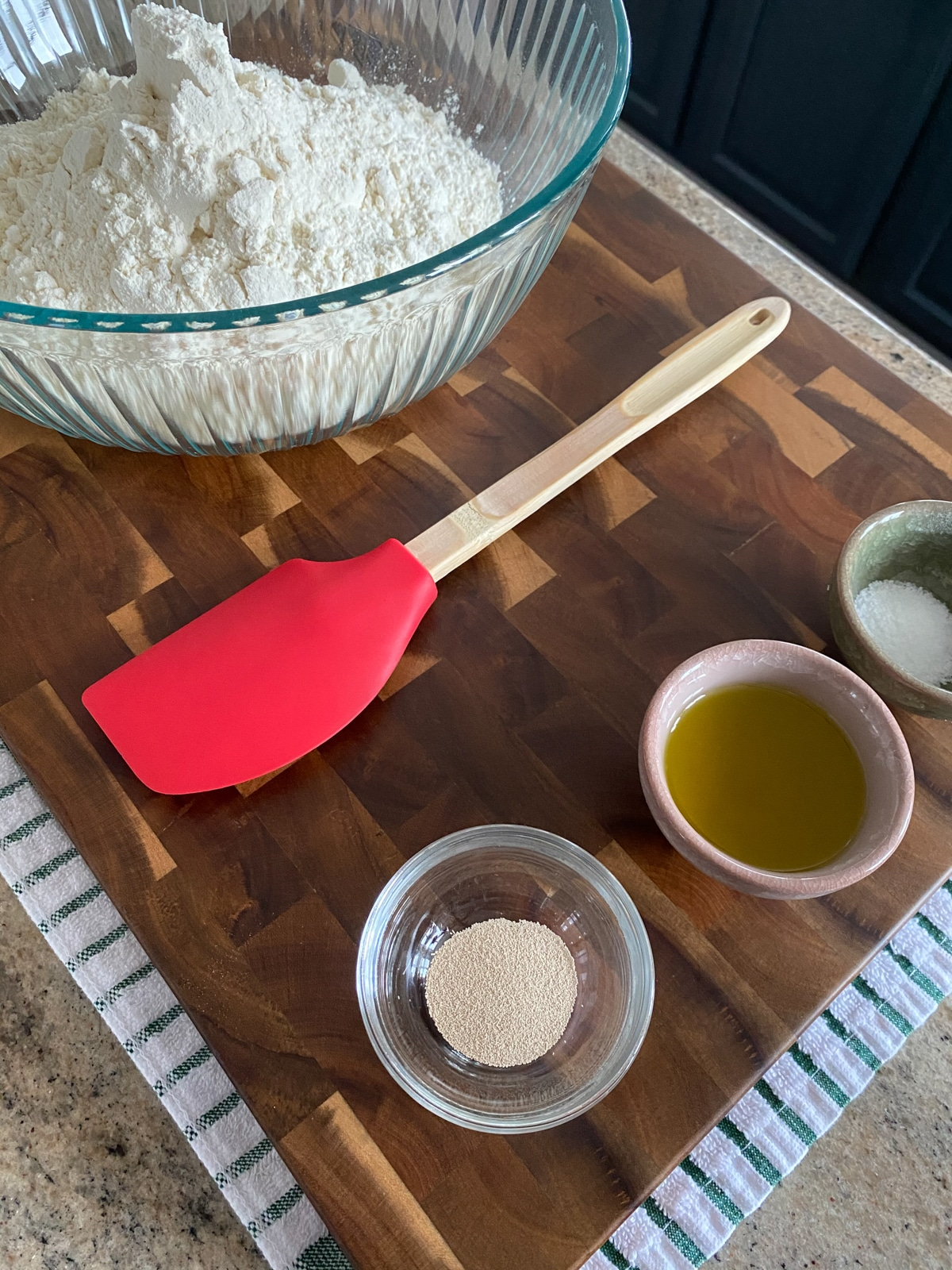 Ingredients for focaccia