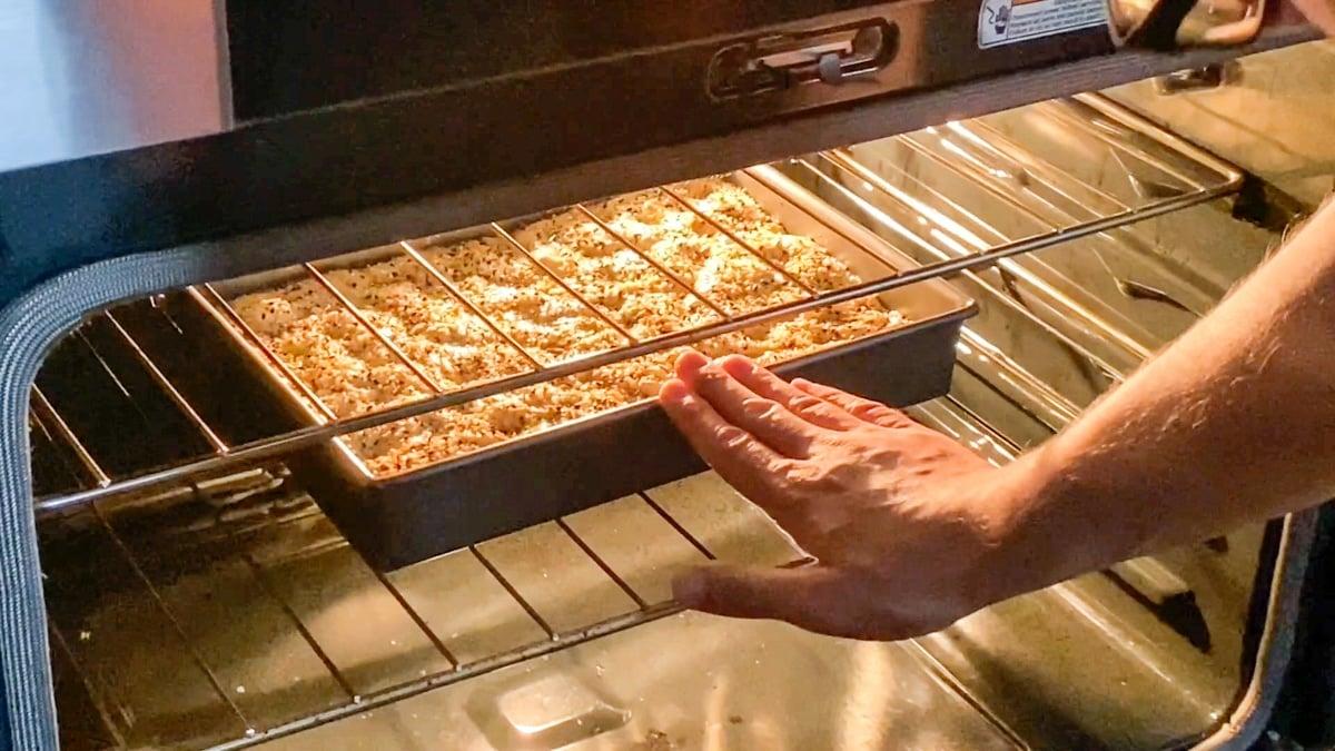 baking focaccia dough