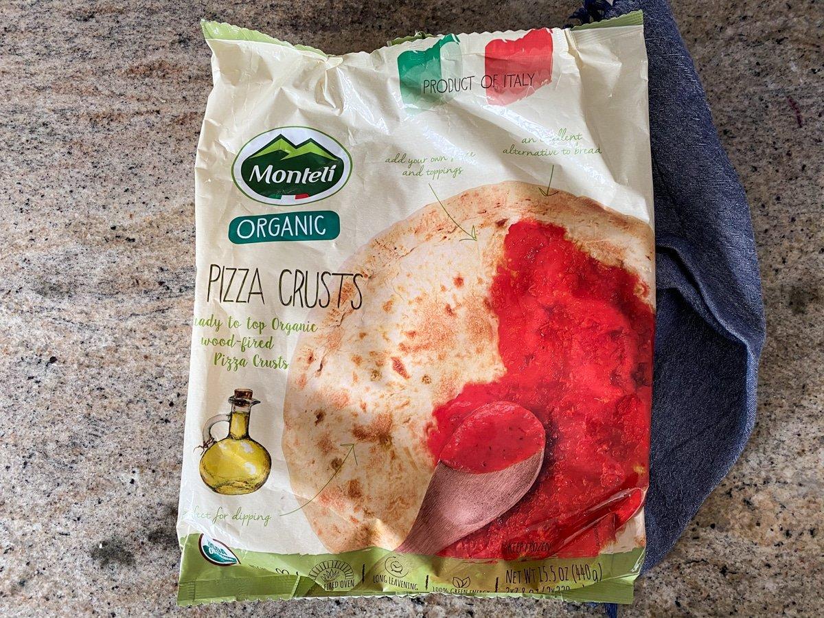 Frozen Moretti pizza from Trader Joe's