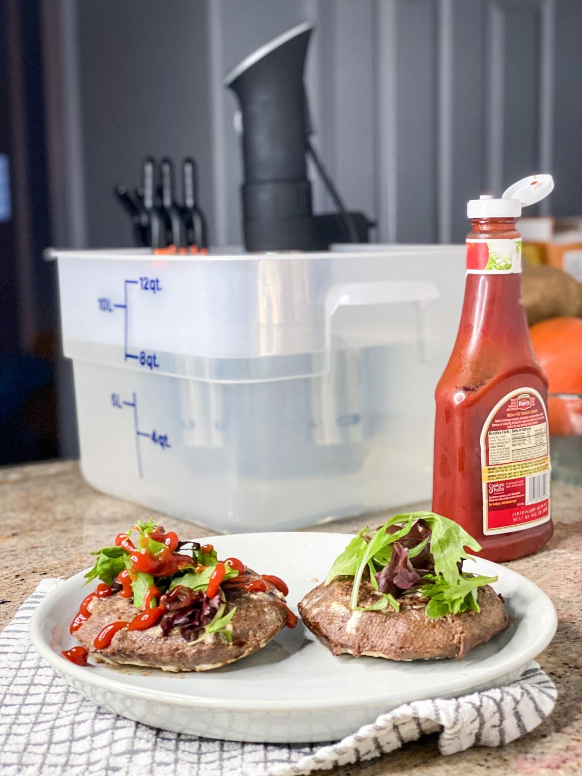 sous vide burger with anova sous vide machine