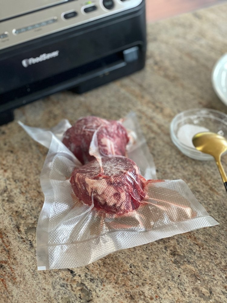 filet mignon vacuum sealed meat demonstration