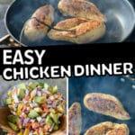 easy chicken dinner pinterest pin