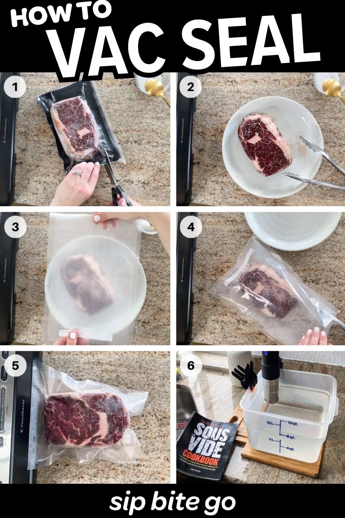how to vacuum seal meat step by step