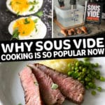 why sous vide is so popular pinterest pin with Sous Vide Cookbook