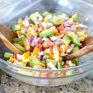 simple avocado ranch salad