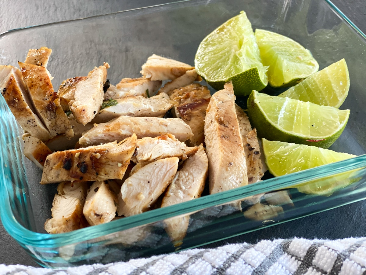 meal prep sous vide chicken breast with lime