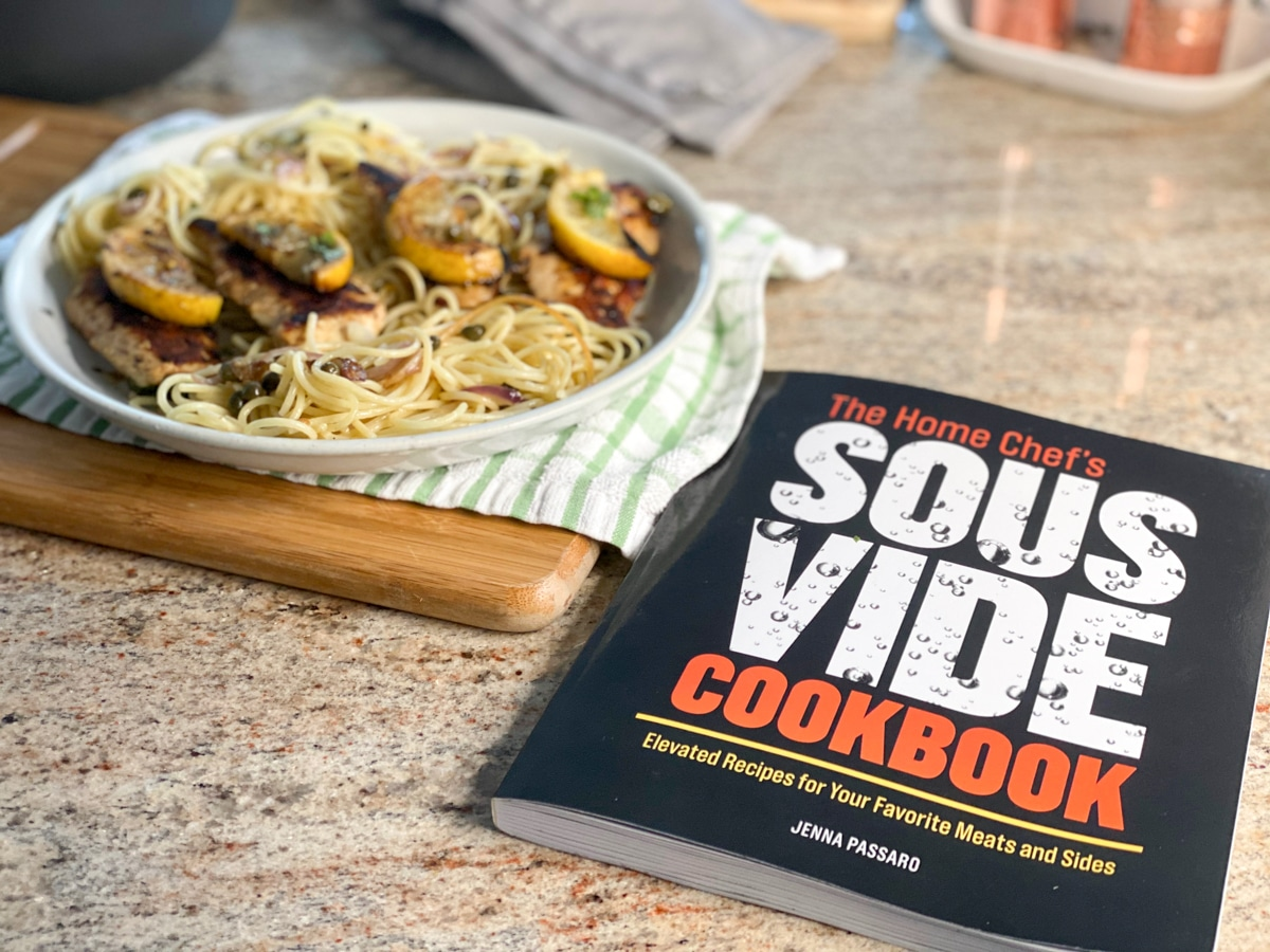 9 grilled sous vide chicken and pasta with the home chef's sous vide cookbook