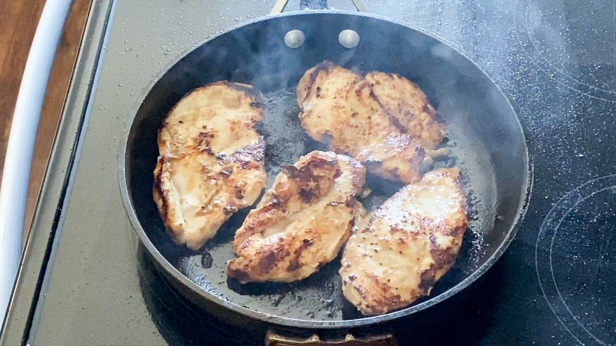 chicken breast marinated and baked in the oven