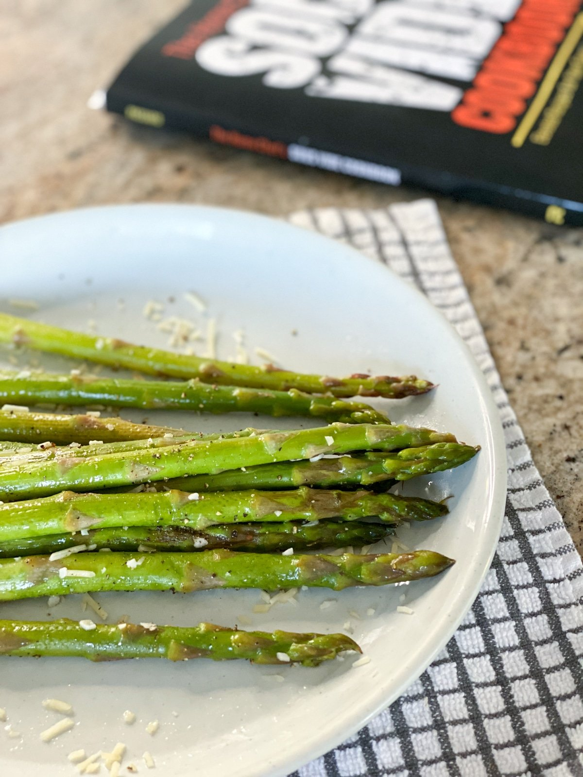 sous vide parmesan asparagus with the home chef's sous vide cookbook