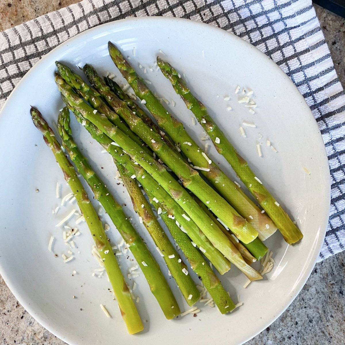 cooked sous vide asparagus