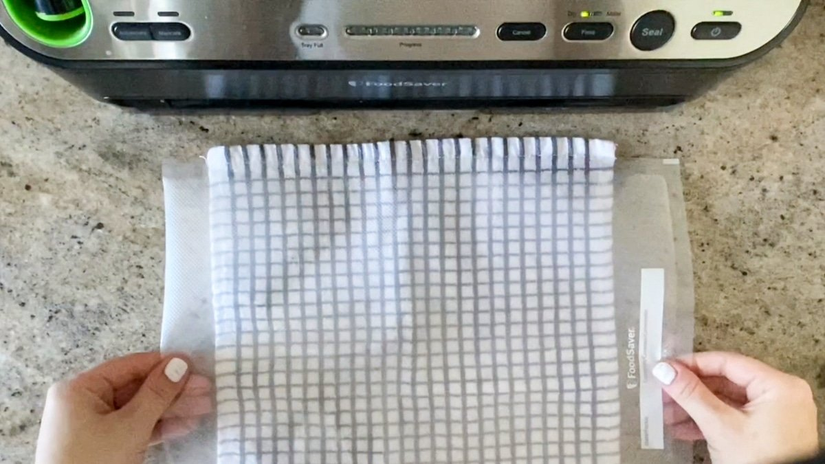 finding the right size foodsaver bag to vacuum seal asparagus