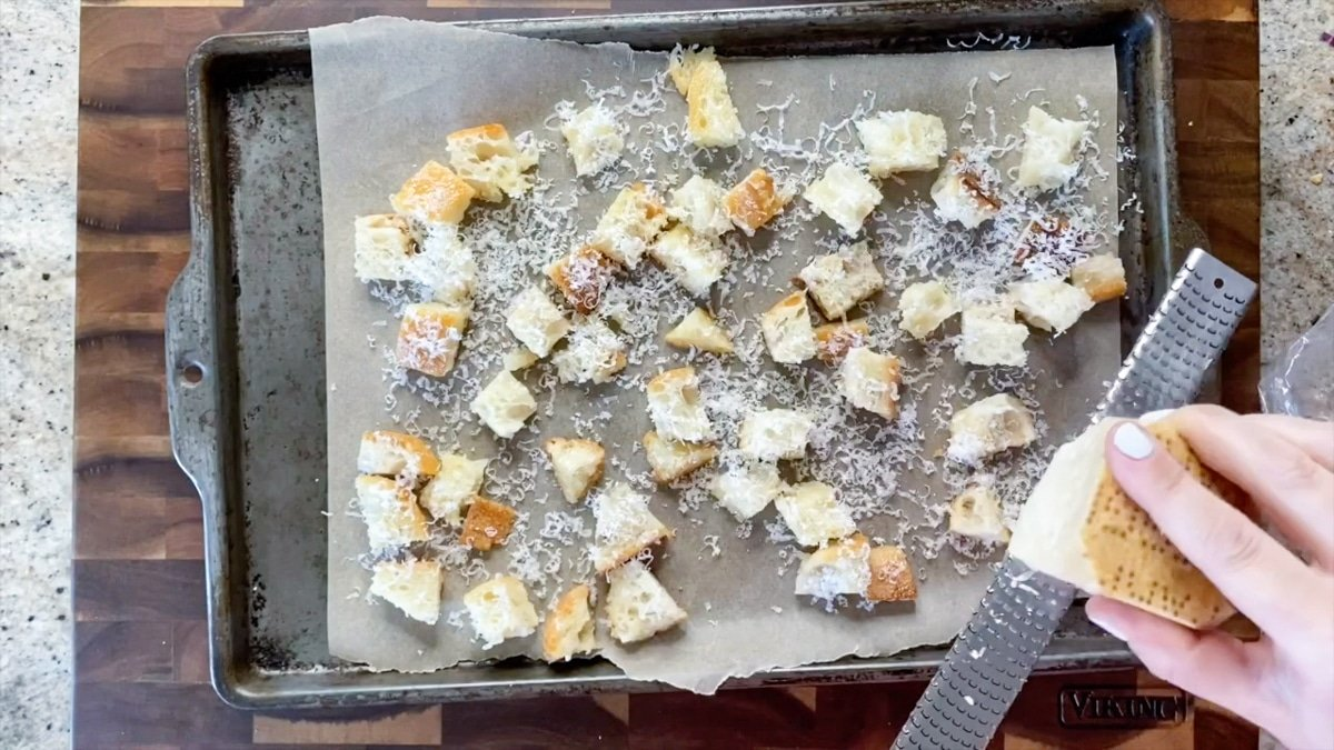 grating cheese for croutons