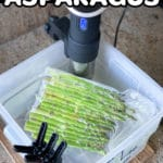 pin graphic for sous vide asparagus