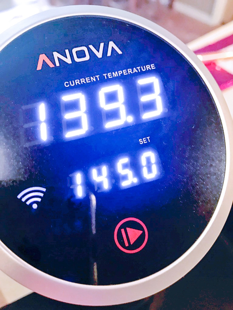 anova sous vide eggs temperature setting