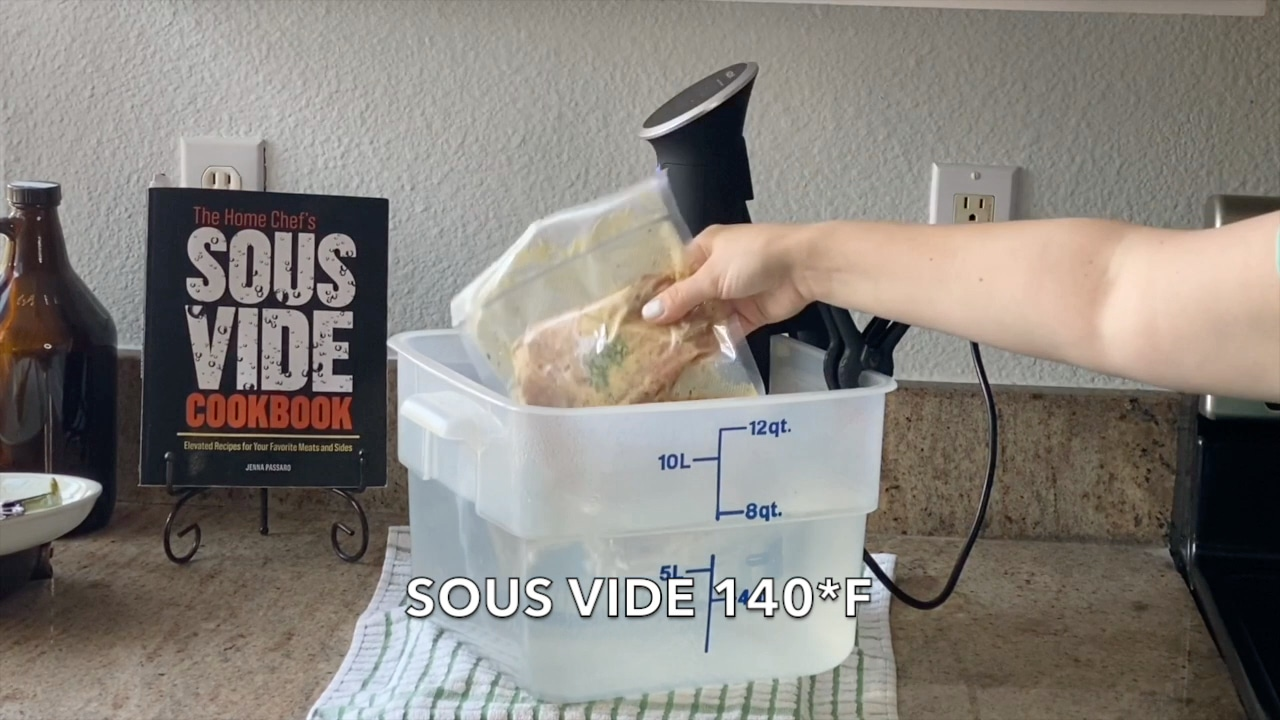 sous vide cooking pork chops with anova machine and the home chef's sous vide cookbook