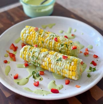 Sous Vide Sweet Corn Side Dish With Cilantro Sauce