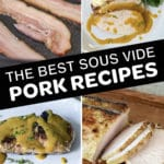 sous vide pork recipes pin collage