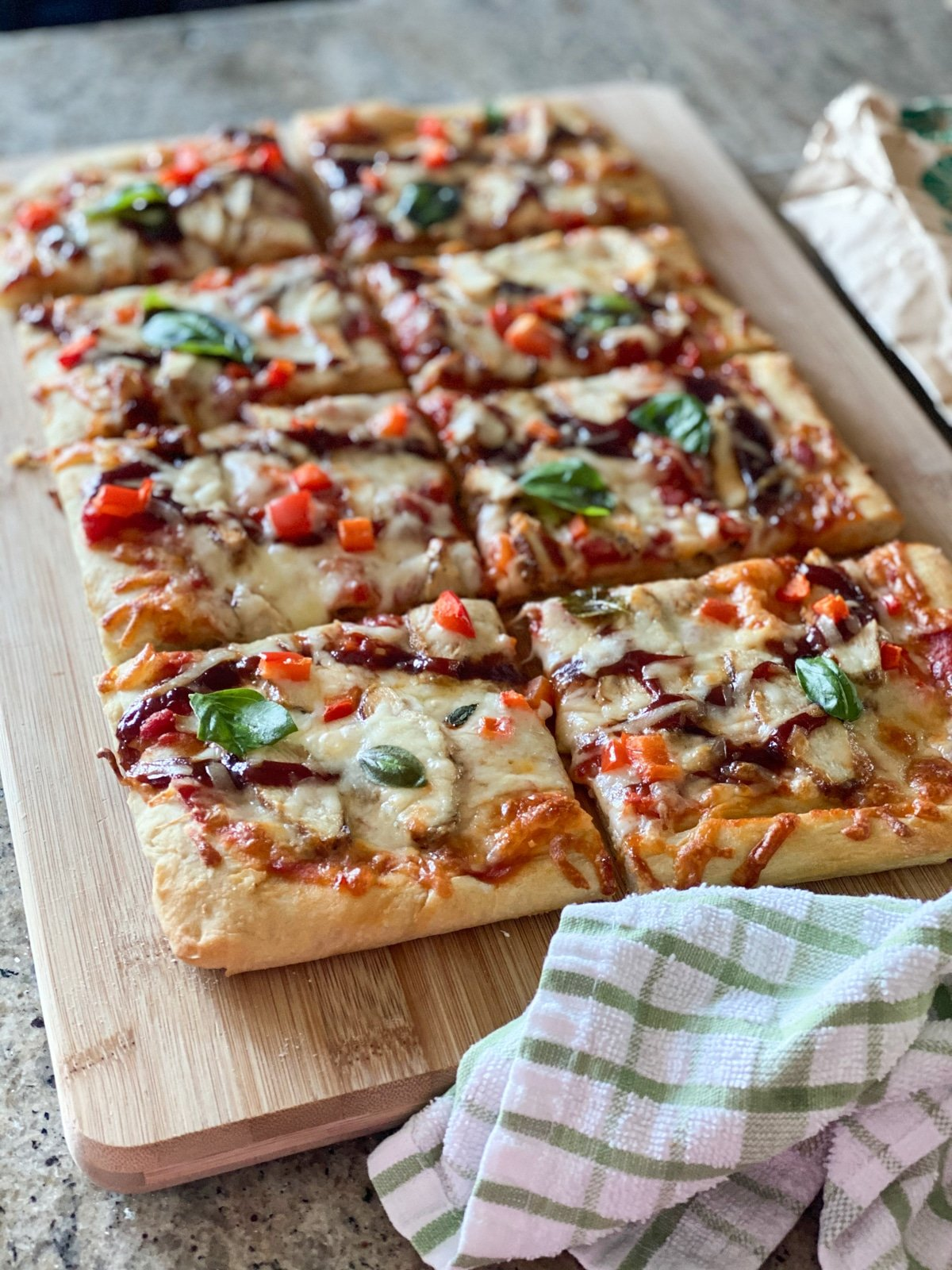 pizza made from fresh dough