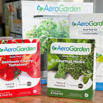 aerogarden bought online with herb seed pods and tomatoes feature