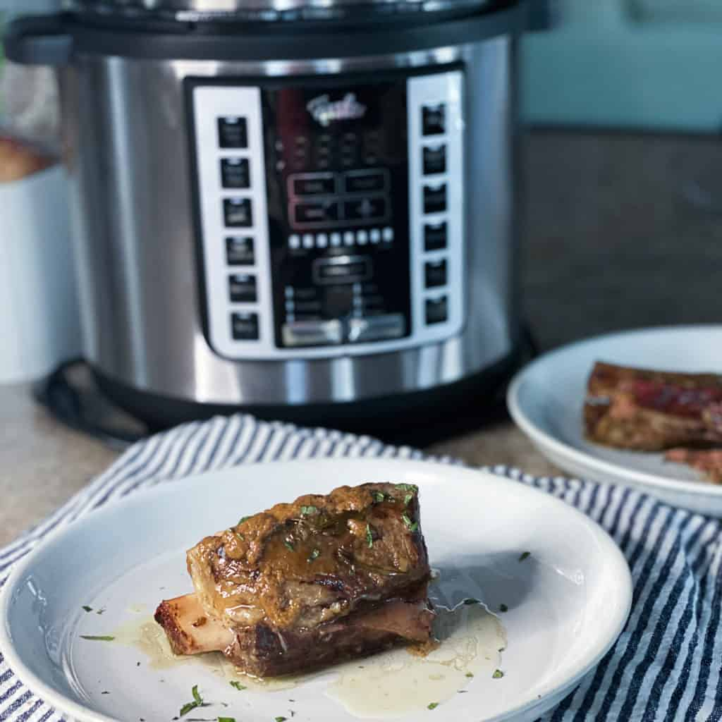 Fissler sous vide machine with beef short ribs sous vide style