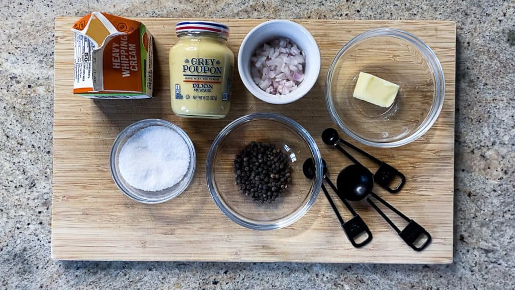 ingredients for sous vide short ribs sauce