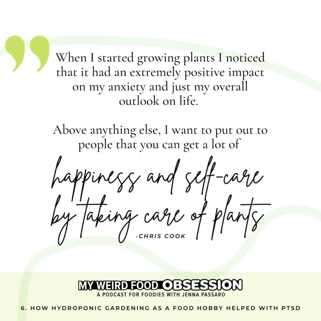 hobby and food quote about happiness and self care and taking care of plants