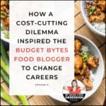 text overlay with title over chicken dish from budget bytes