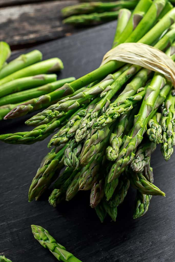 Side shot of asparagus.