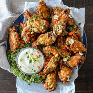 Top down shot of chicken recipe.