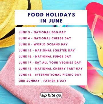 List of food holidays in june.