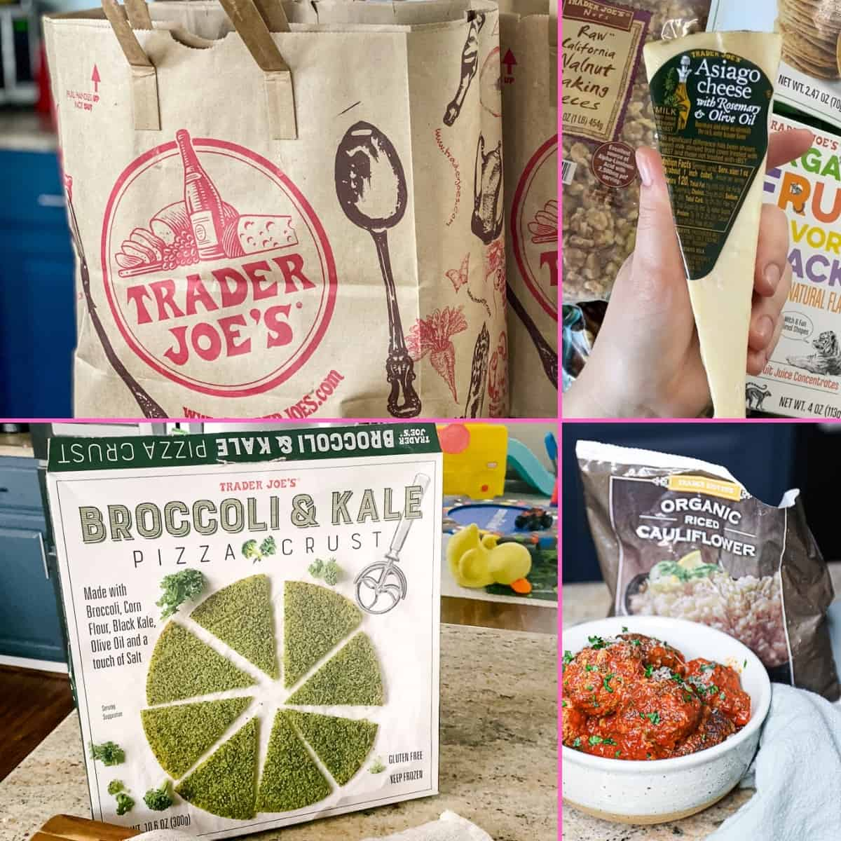 Collage of must have Gluten Free Trader Joe's Haul Products.