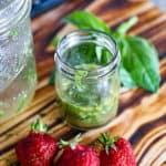 Honey Lemon Basil Dressing Salad Vinaigrette Homemade In A Jar.