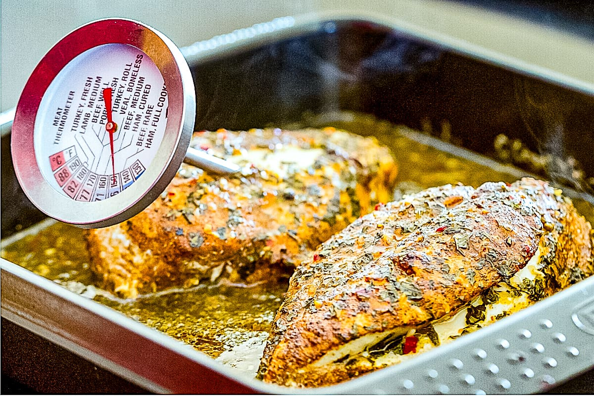 Thermometer reading what temperature reading chicken breast temperature.