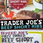 Trader Joe's Short Ribs Review graphic of box and text overlay.