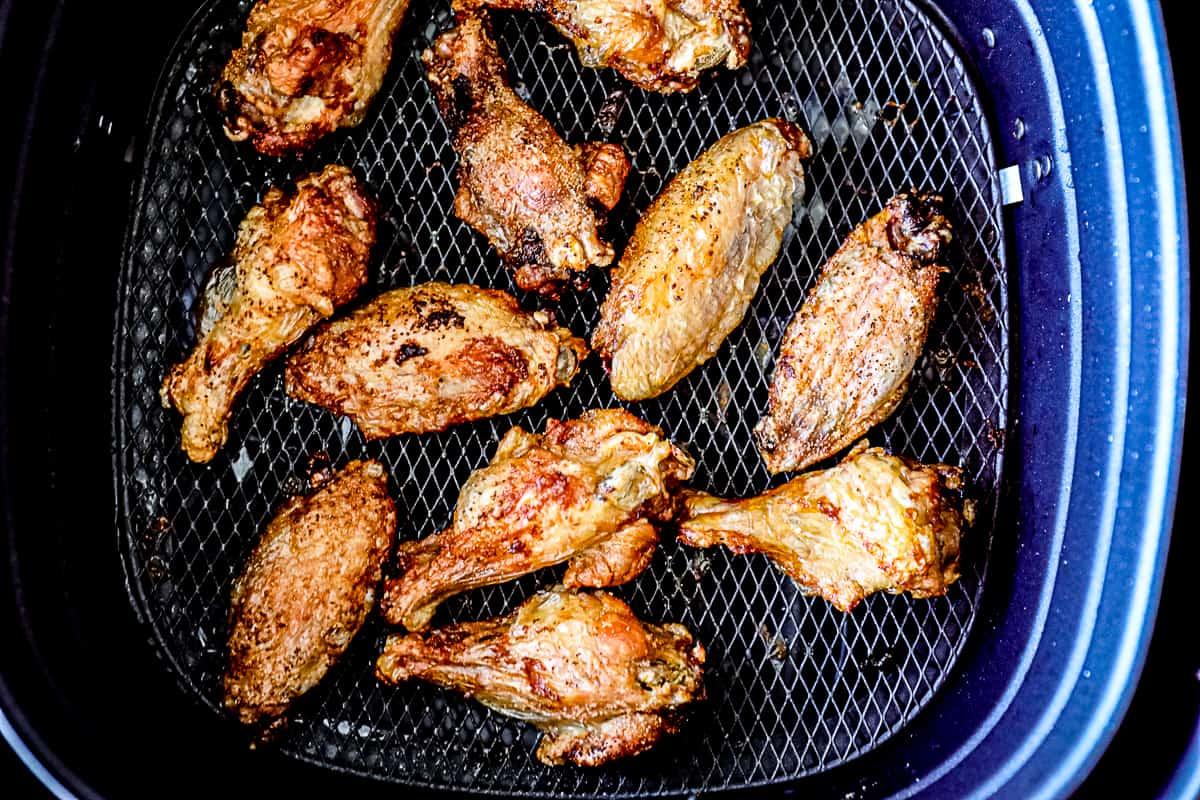 Air Fryer Lemon Pepper Chicken Wings.