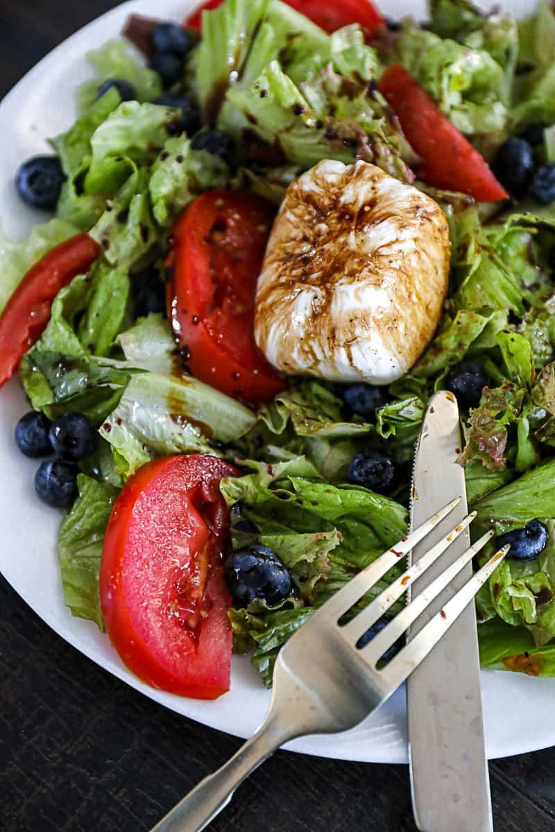 Blueberry Summer Salad with tomatoes