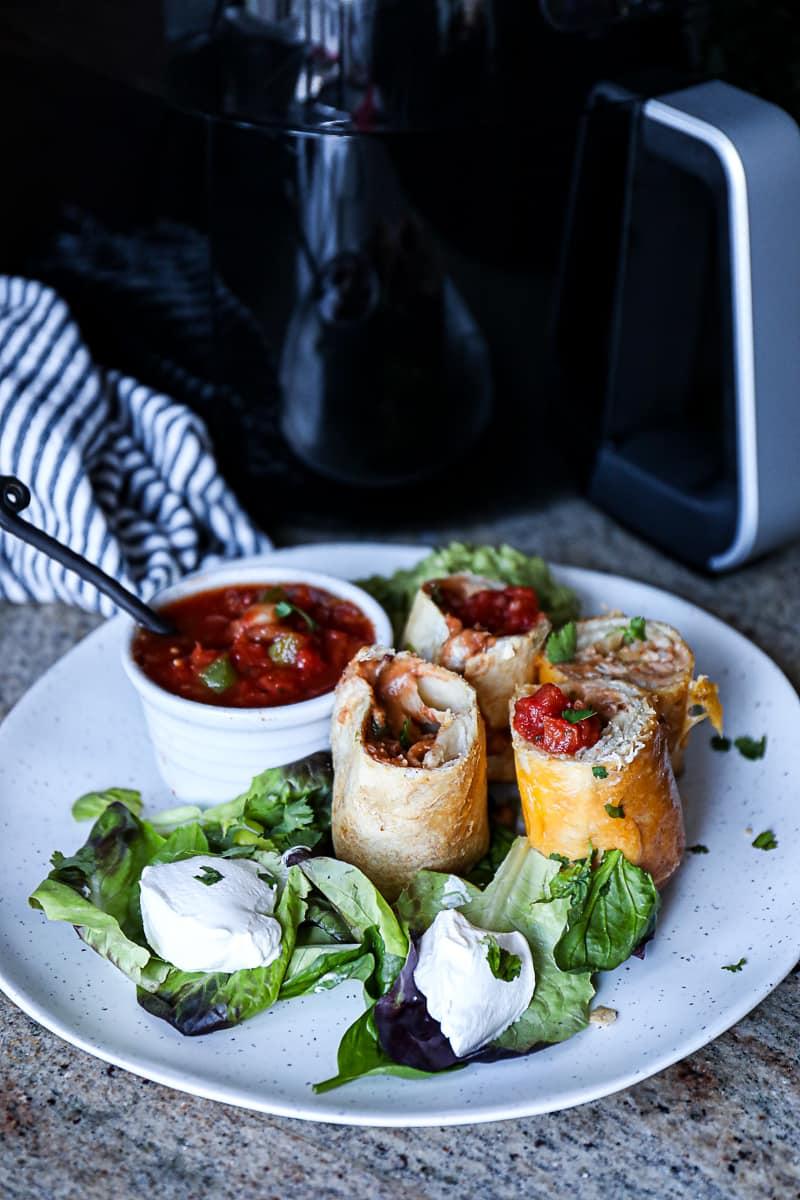 Example of frozen foods air fryer cooked.