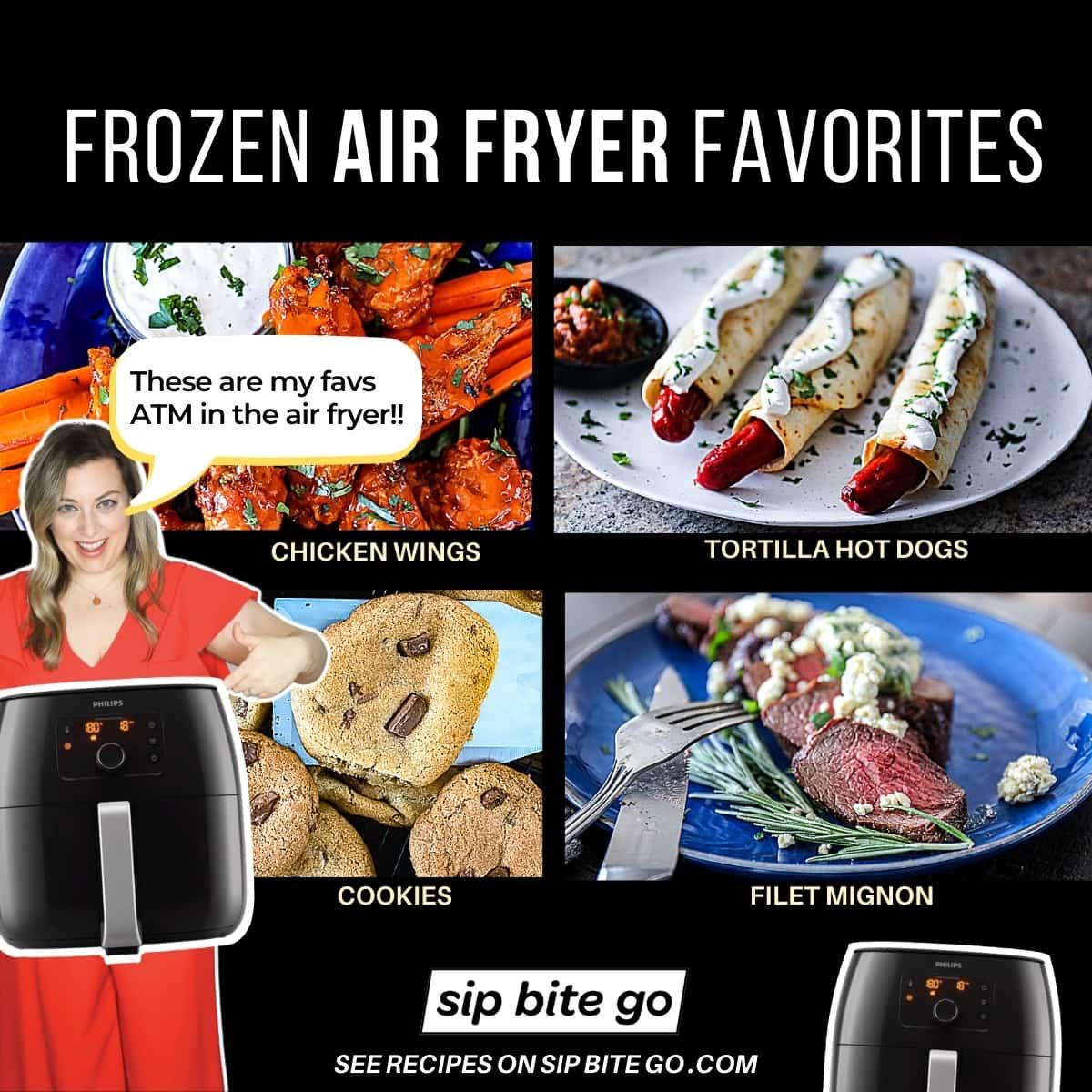 Favorite frozen food in air fryer charts.