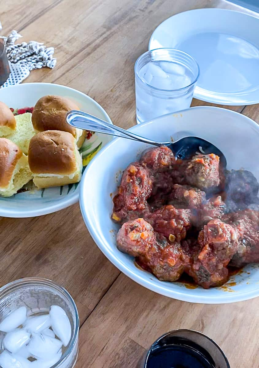 Ground beef party dishes Meatball Sliders